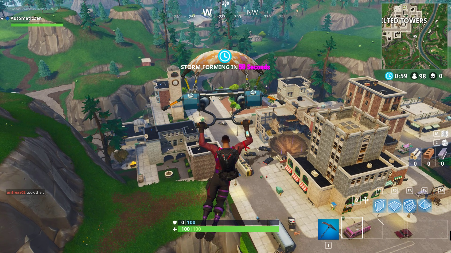 tilted towers is still there - all changes in fortnite season 4
