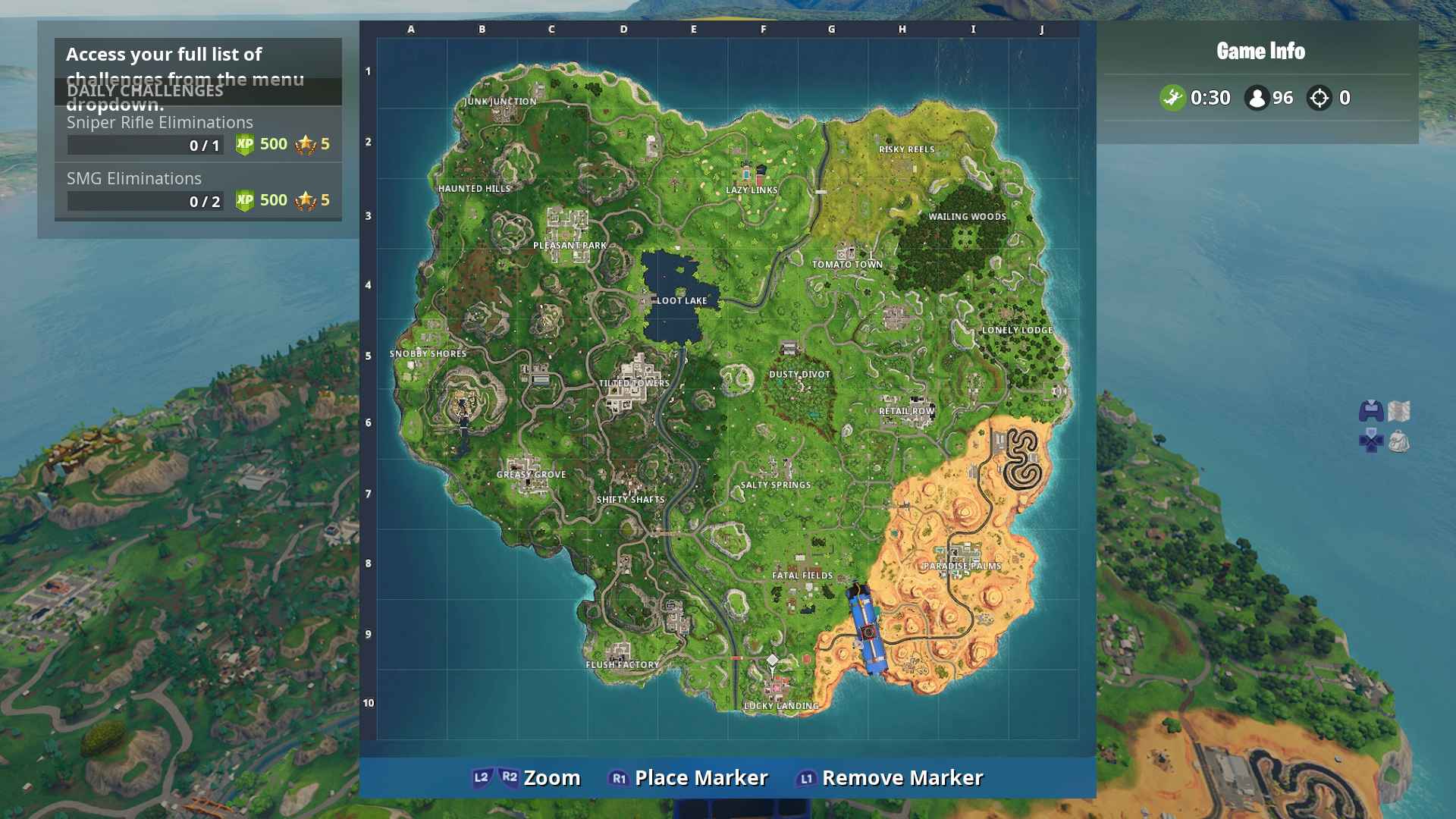 Fortnite Named Locations Visit The Center Of Named Locations In A