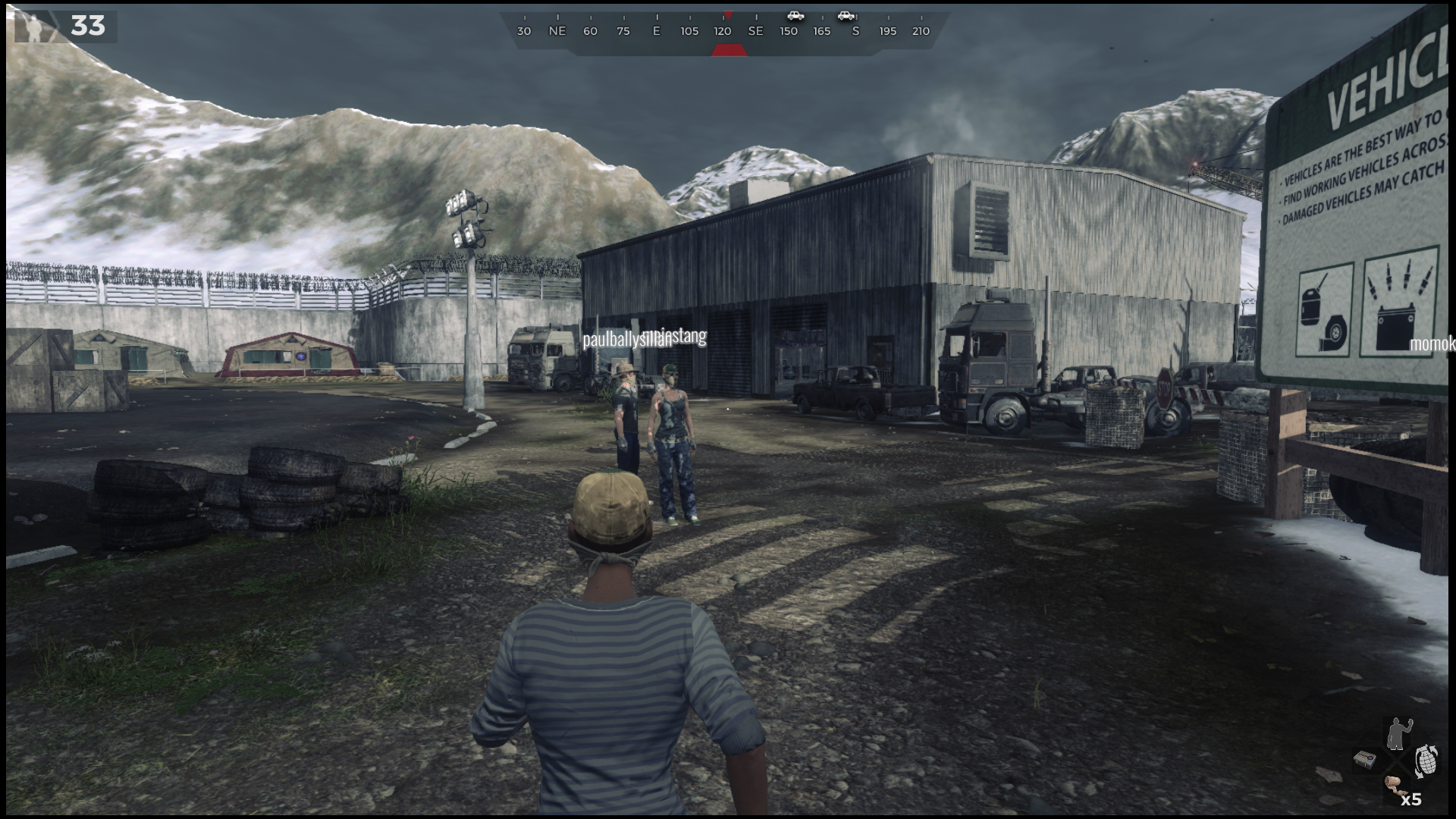 H1Z1 PS4 Controls Guide - On-Foot, Vehicle and Passenger