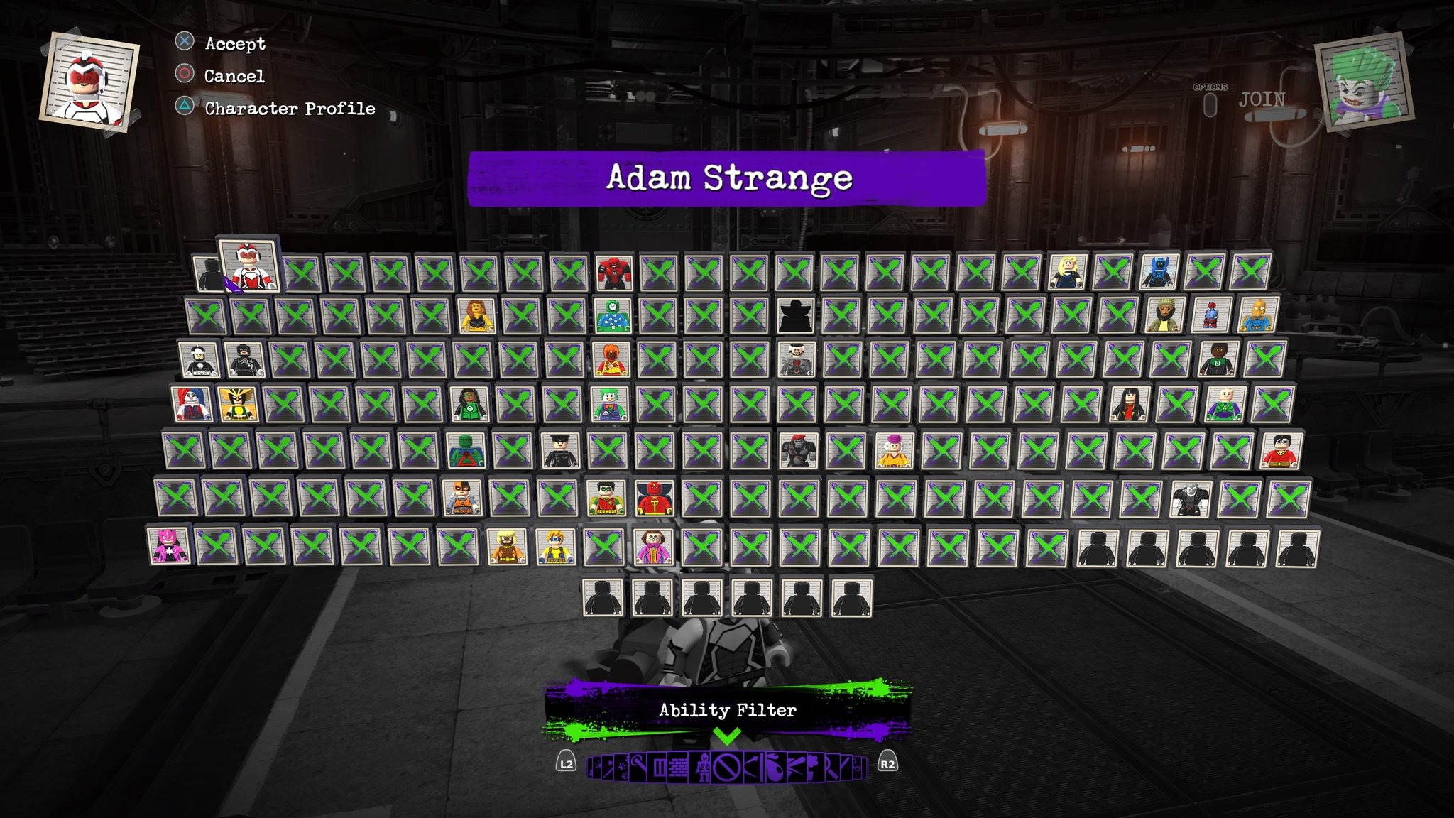 Lego DC Super Villains Cheat Codes - All Characters in LEGO DC Super