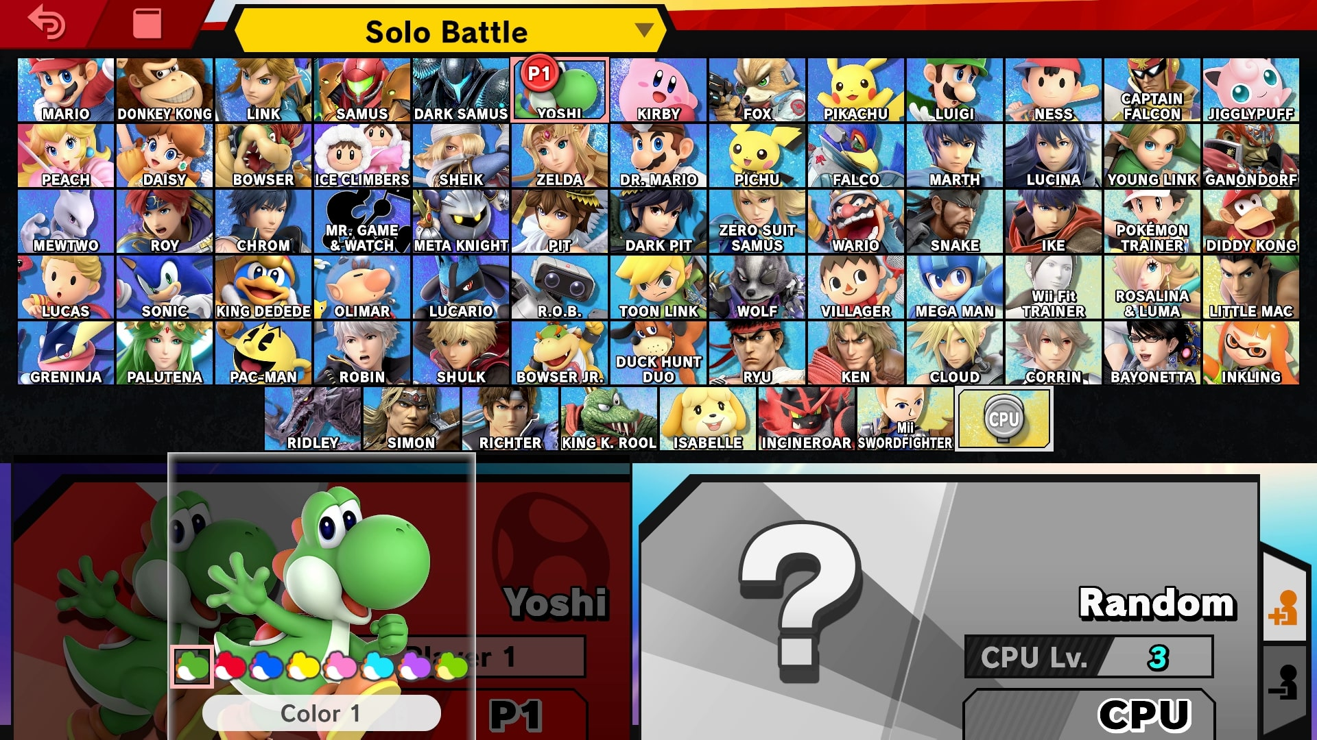 yoshi super smash bros ultimate guide unlock moves changes yoshi alternate costumes final. Black Bedroom Furniture Sets. Home Design Ideas