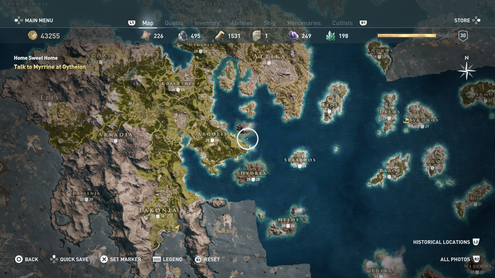 Assassin S Creed Odyssey Karte.Assassin S Creed Odyssey Map How To Traverse The Map Quickly Usgamer