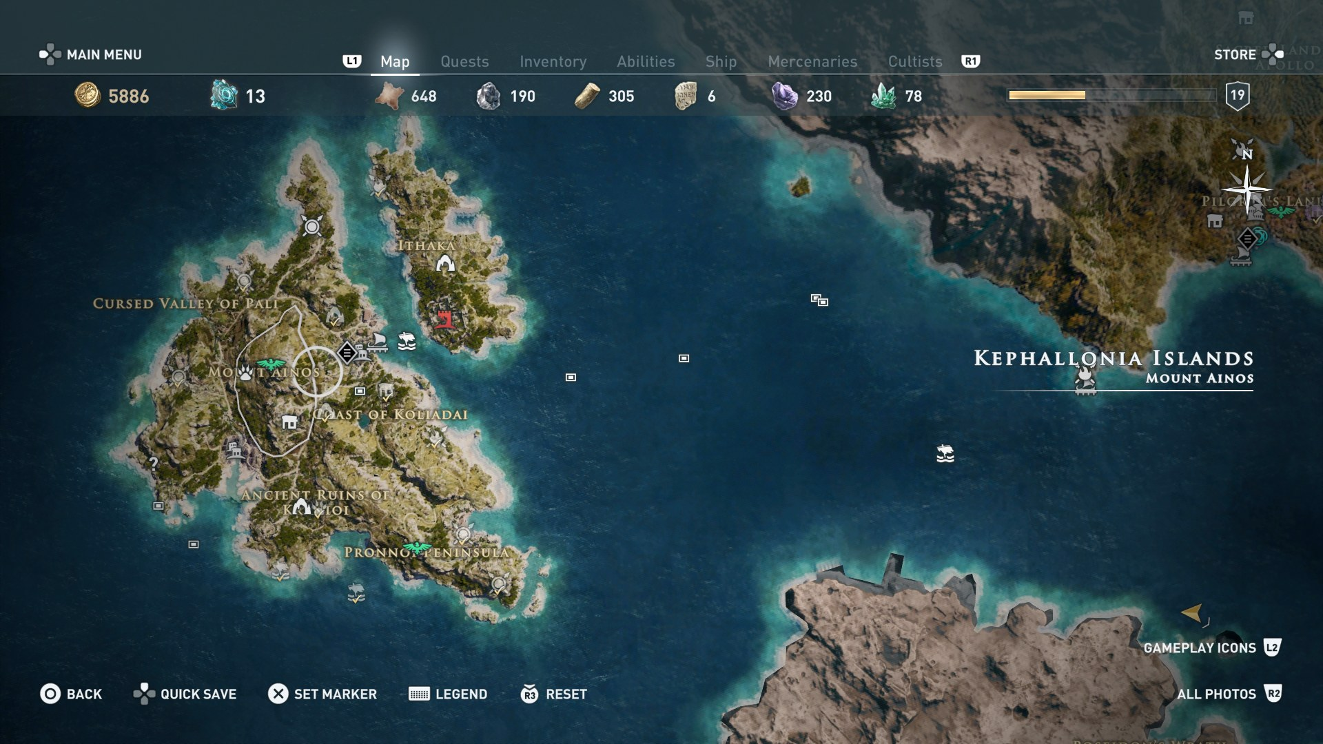 assassins creed odyssey map legend