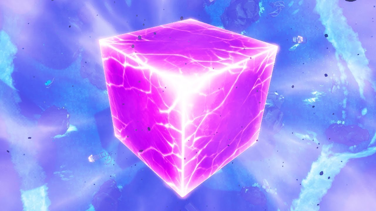 The Fortnite Cube Explodes Changing The Map Again Usgamer