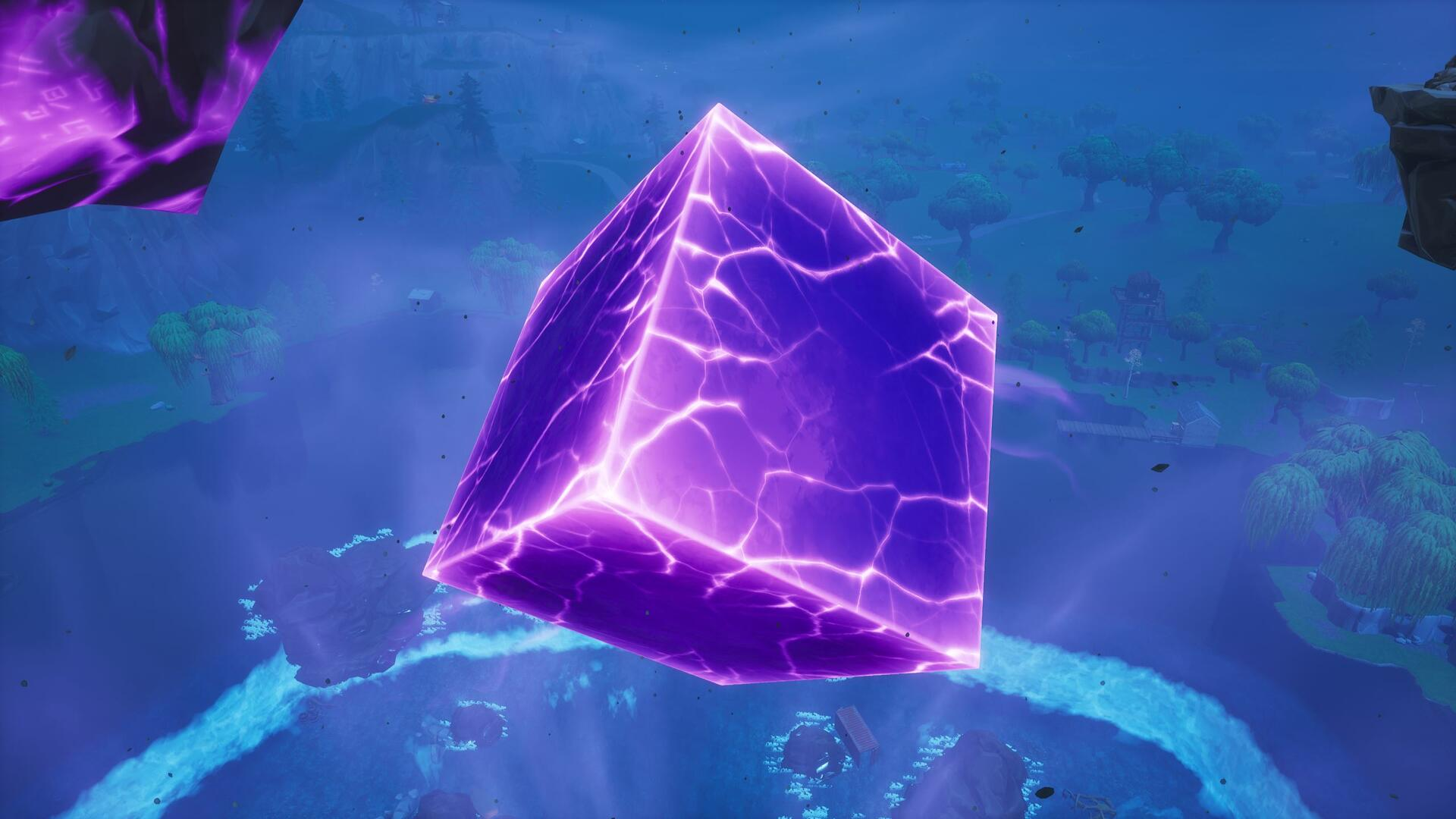 The Fortnite Cube Explodes, Changing the Map Again