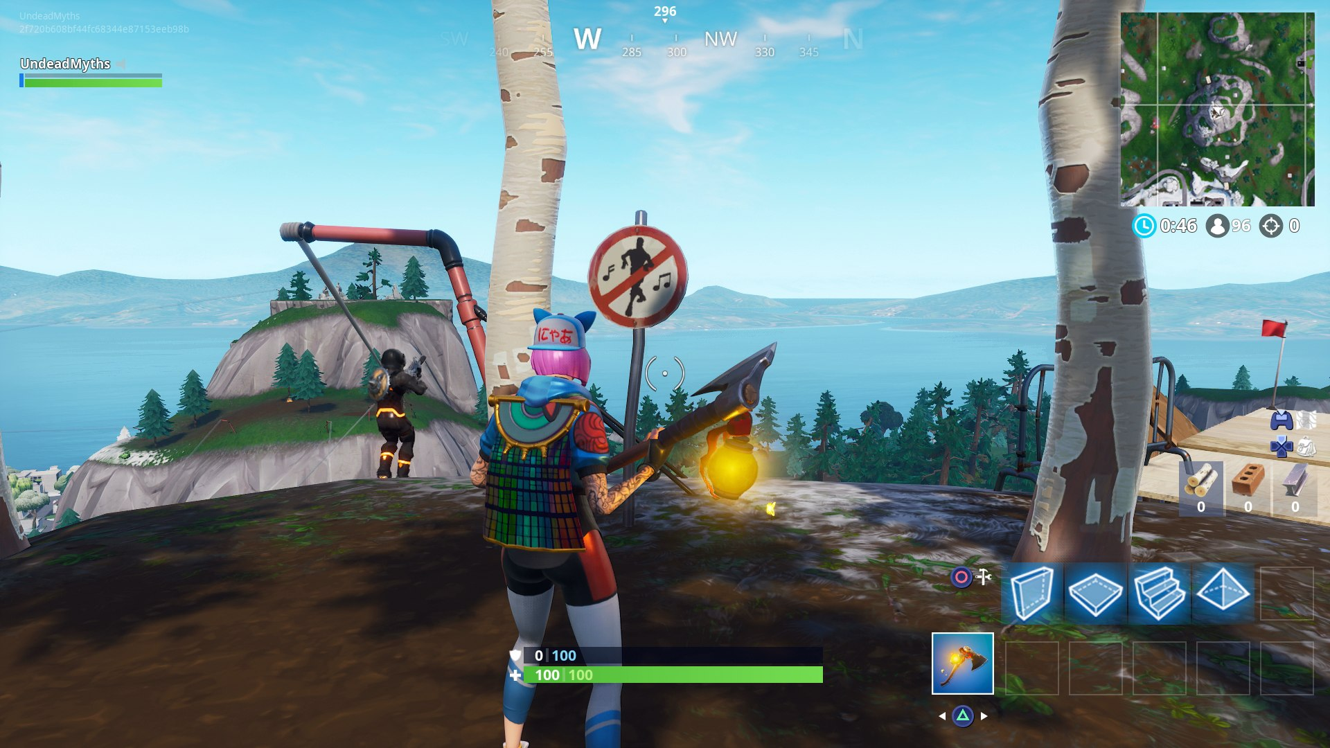 just south and slightly east from frosty flights where you can find all the planes there s another sign - where to dance in fortnite forbidden locations