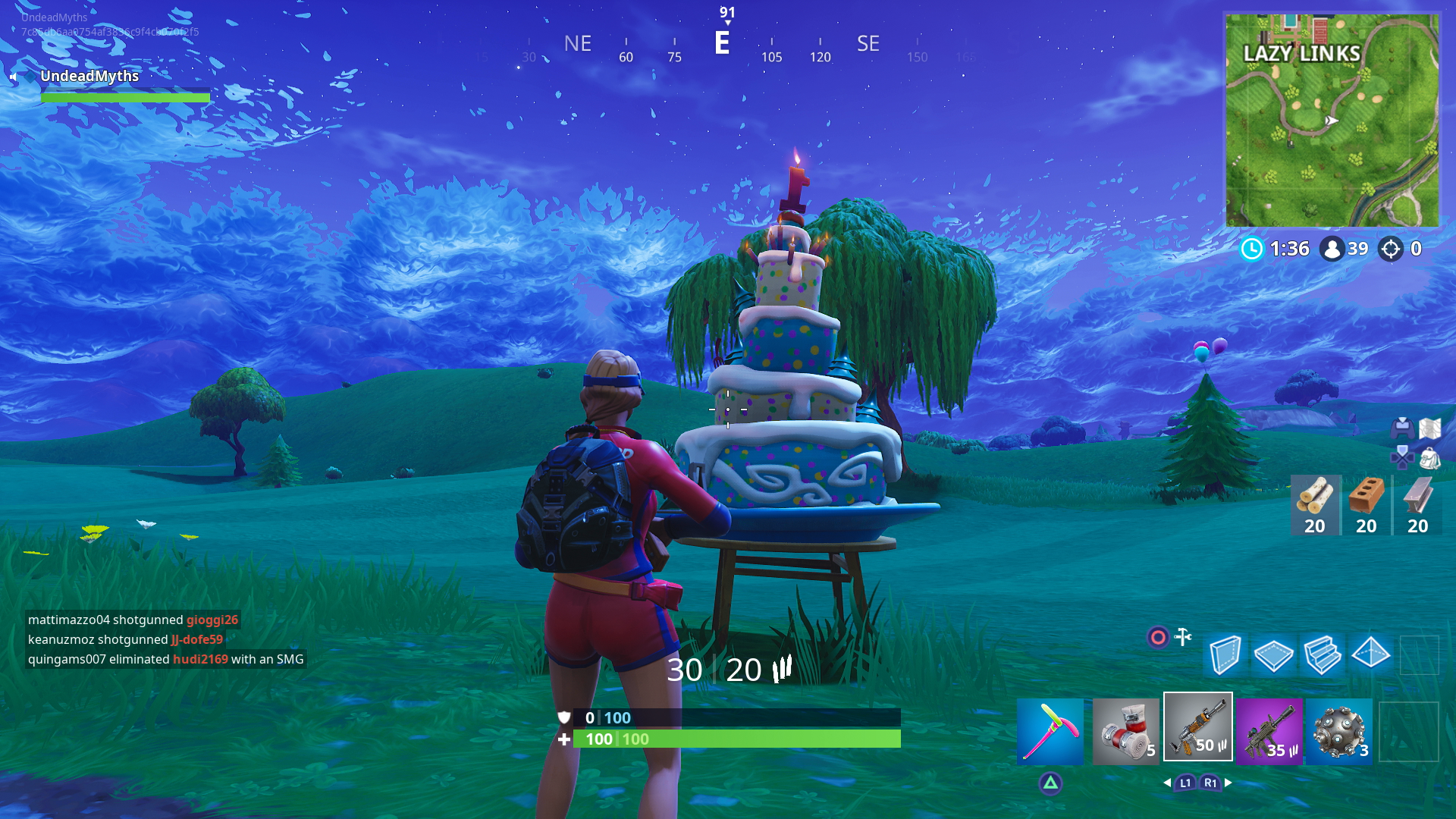 Fortnite Birthday Cake Locations Dance In Front Of Cakes Challenge