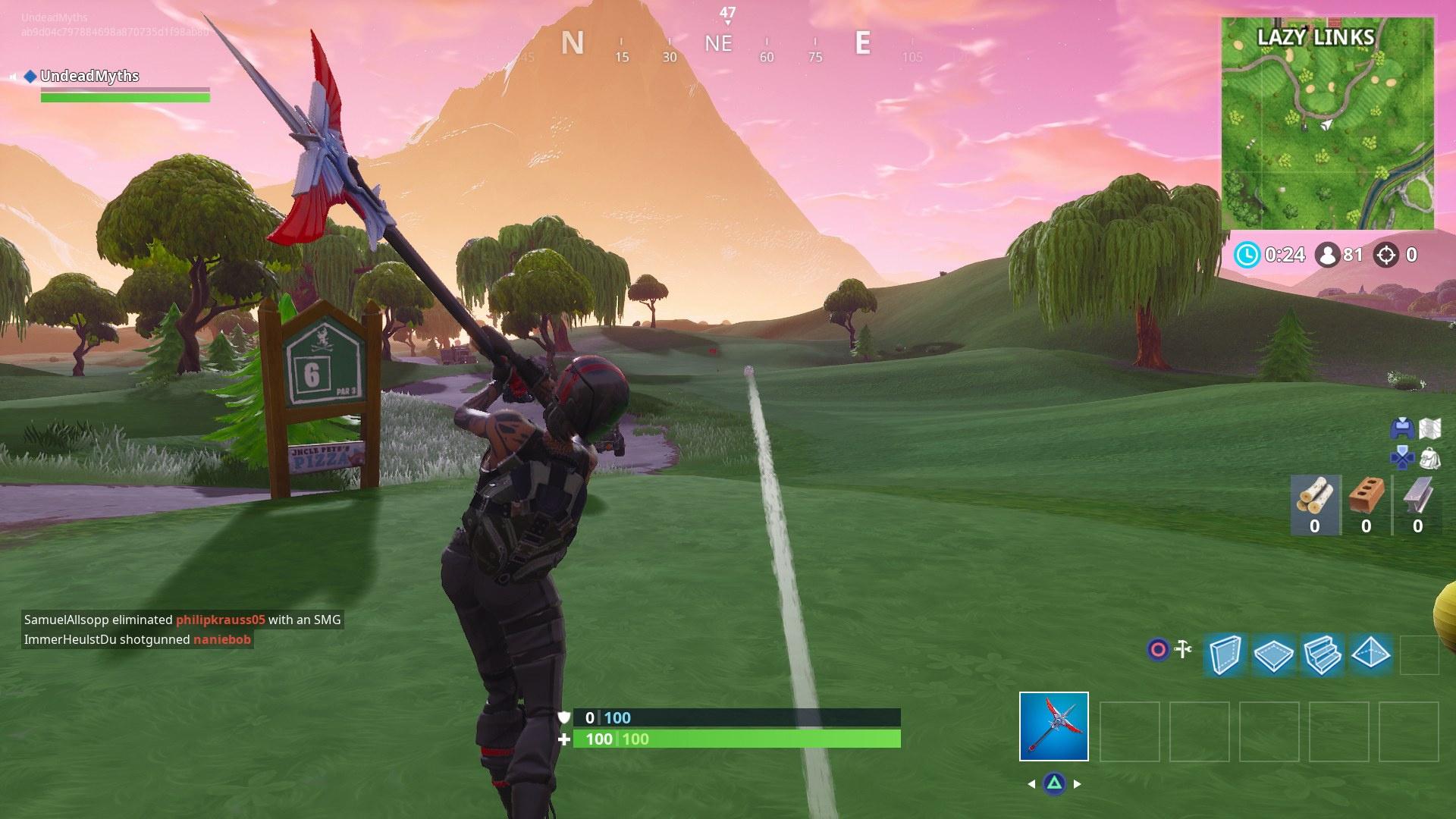 Fortnite Hit a Golf Ball From Tee to Green - How to Hit the