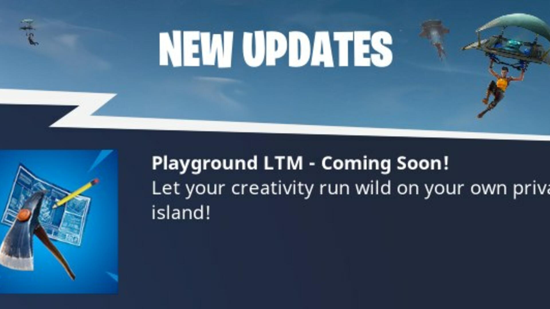 Fortnite Playground Limited Time Mode Release Date is Soon
