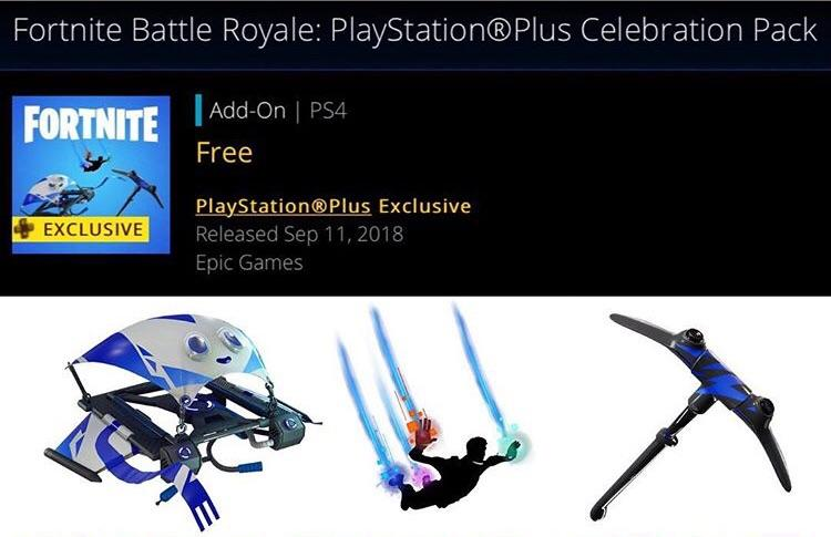Fortnite's PlayStation Plus Celebration Pack is Now