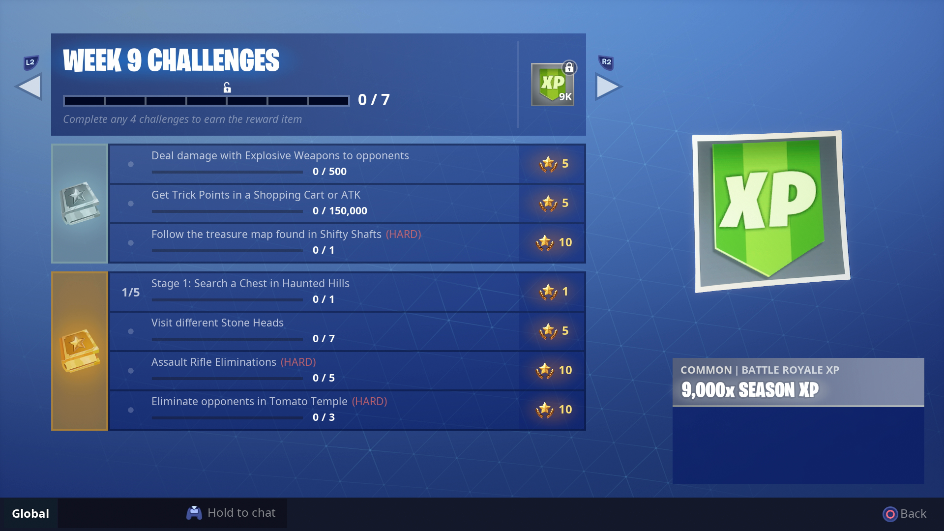 Fortnite Week 9 Challenges All Season 5 Week 9 Battle Pass