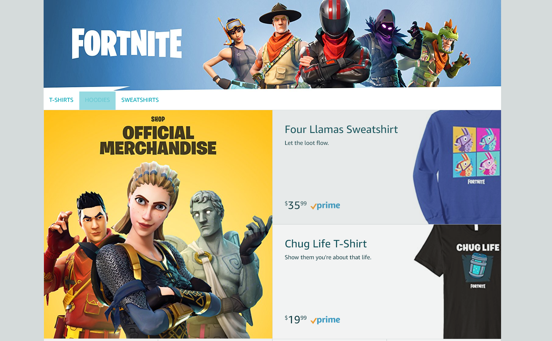 There's Now an Official Fortnite Amazon Store | USgamer