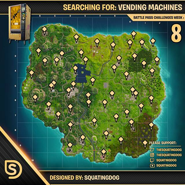 Fortnite Vending Machine Locations And Vending Machines