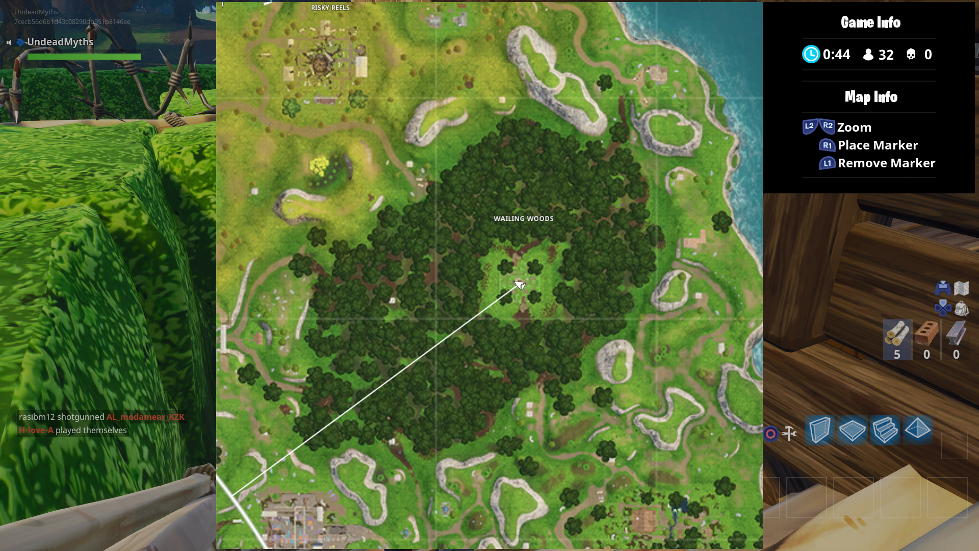 we d recommend heading to either dusty divot where you can find hop rocks to consume or wailing woods where there are tons of mushrooms - fortnite mushrooms map