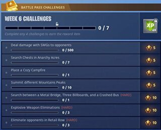 Fortnite Week 6 Challenges Guide - Wie alle Fortnite Week 6 Challenges abgeschlossen werden