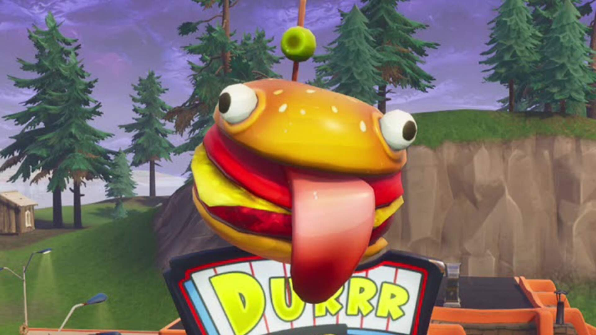 Missing Durr Burger Mascot From Fortnite Somehow Ended Up in the Desert