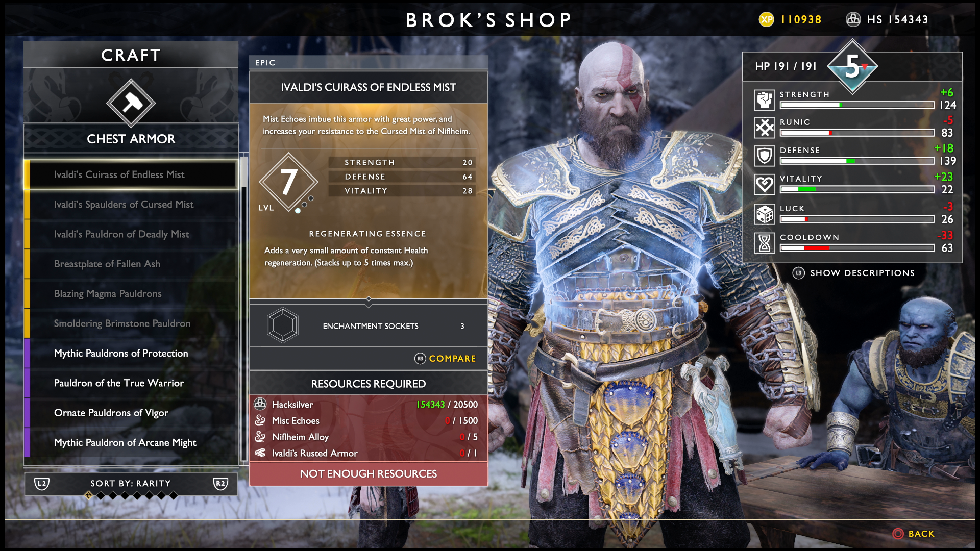God of War Best Armor - Mist Armor - How to Unlock New Armor