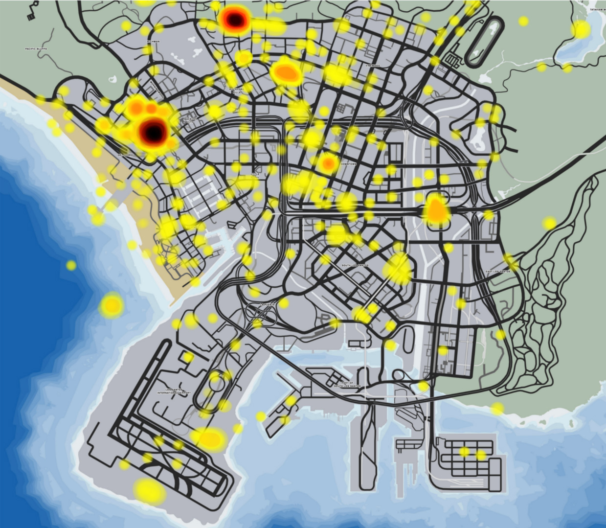 Gta Online Heatmap Uncovering The Most Popular Locations And Player