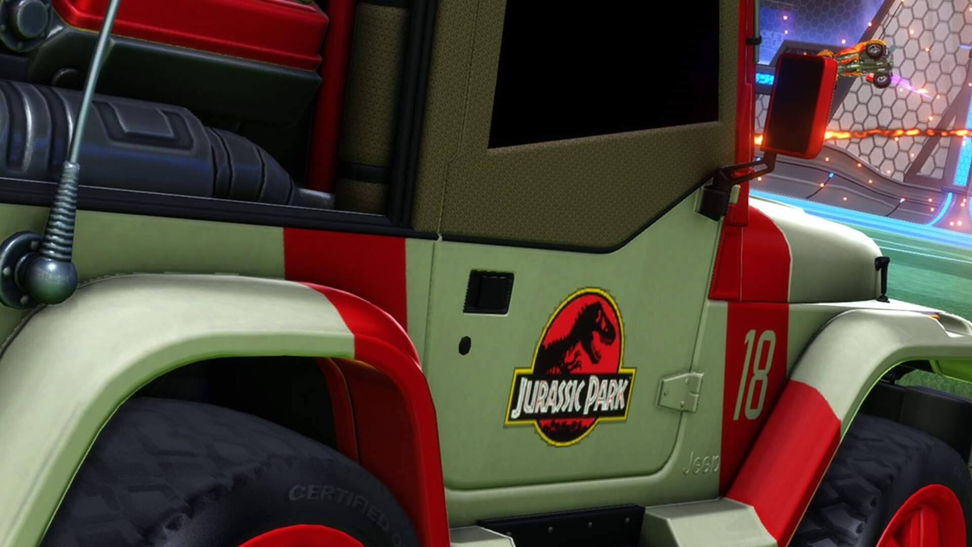 Jurassic Park Jeep is Coming to Rocket League