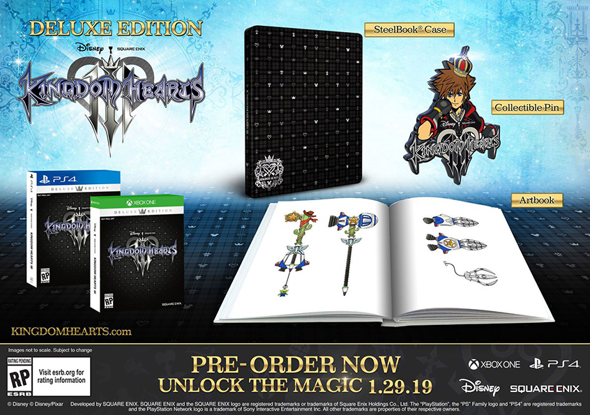 what comes with kingdom hearts 3 deluxe edition gamestop
