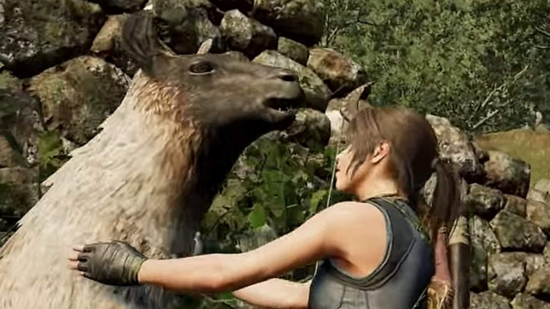 Watch Lara Croft Stroke a Llama in the New Shadow of the Tomb Raider Trailer