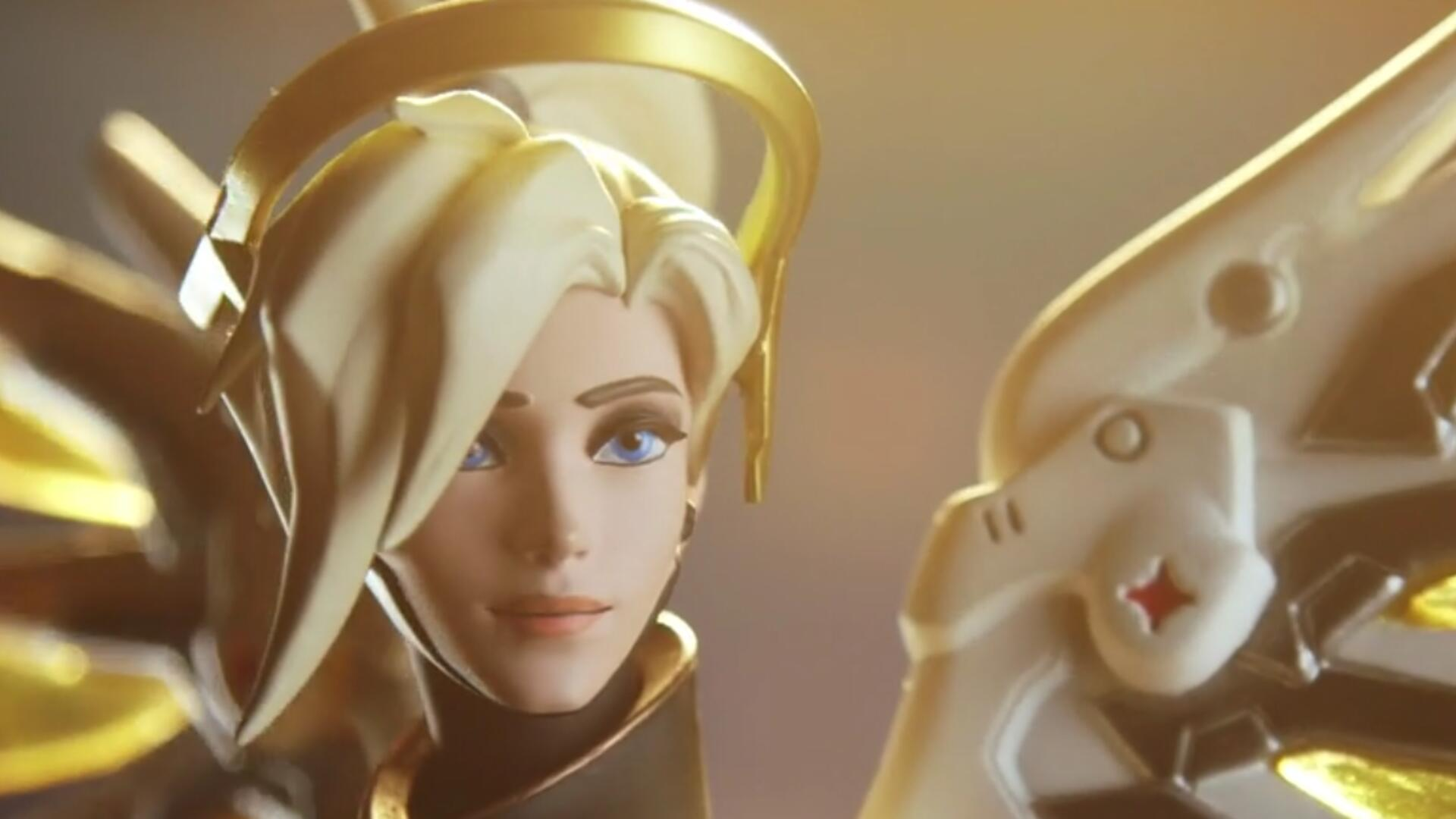This Gorgeous Overwatch Mercy Statue Will Set You Back $175