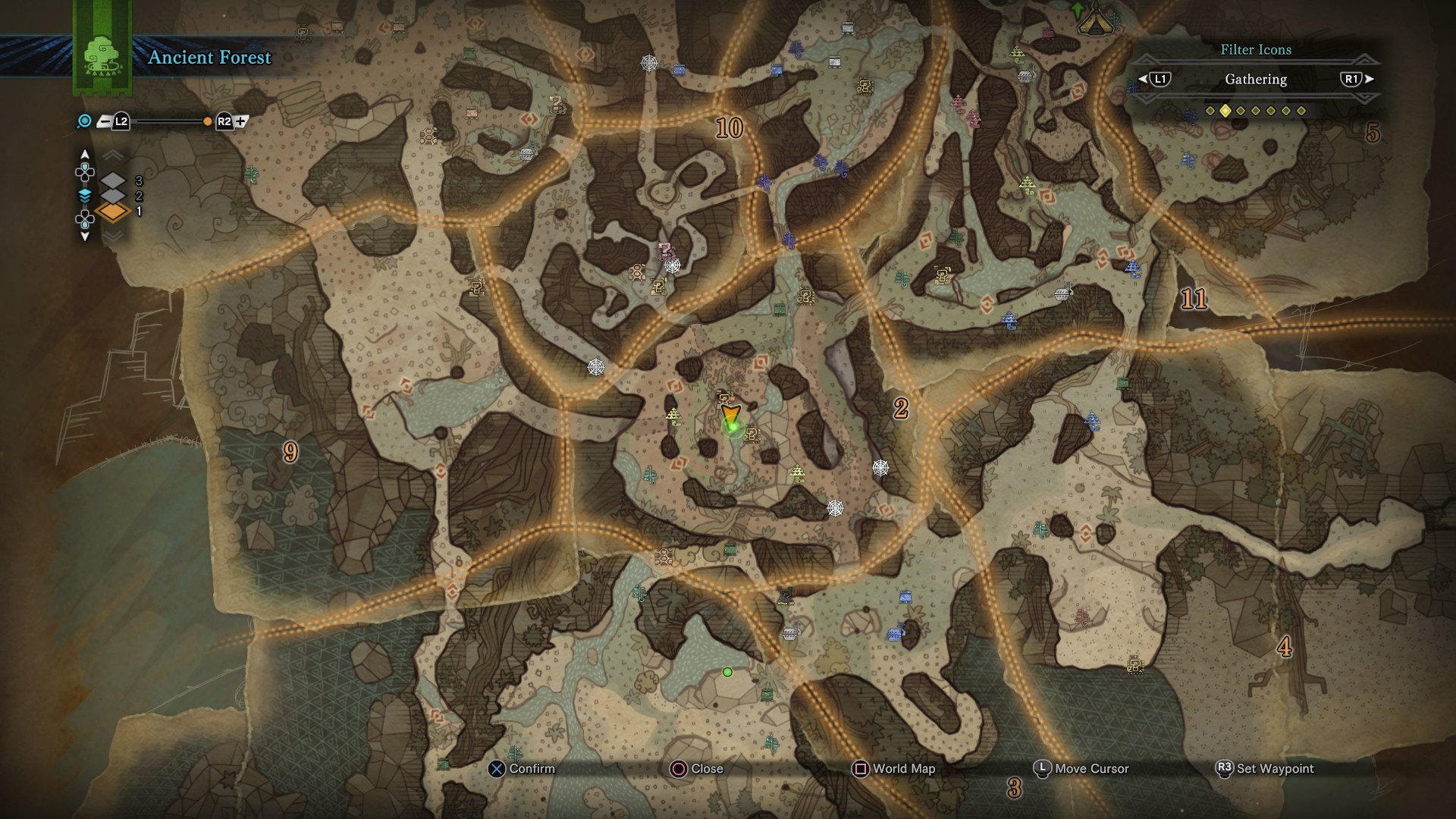 Monster hunter world ancient forest guide complete map overview monster hunter world ancient forest monster locations gumiabroncs Image collections