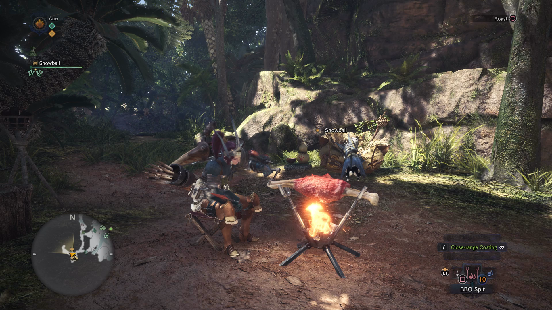 Monster hunter world cooking guide best monster hunter world meals once you select the bbq spit with squarex your character will start cooking the raw meat item on the spit solutioingenieria Choice Image