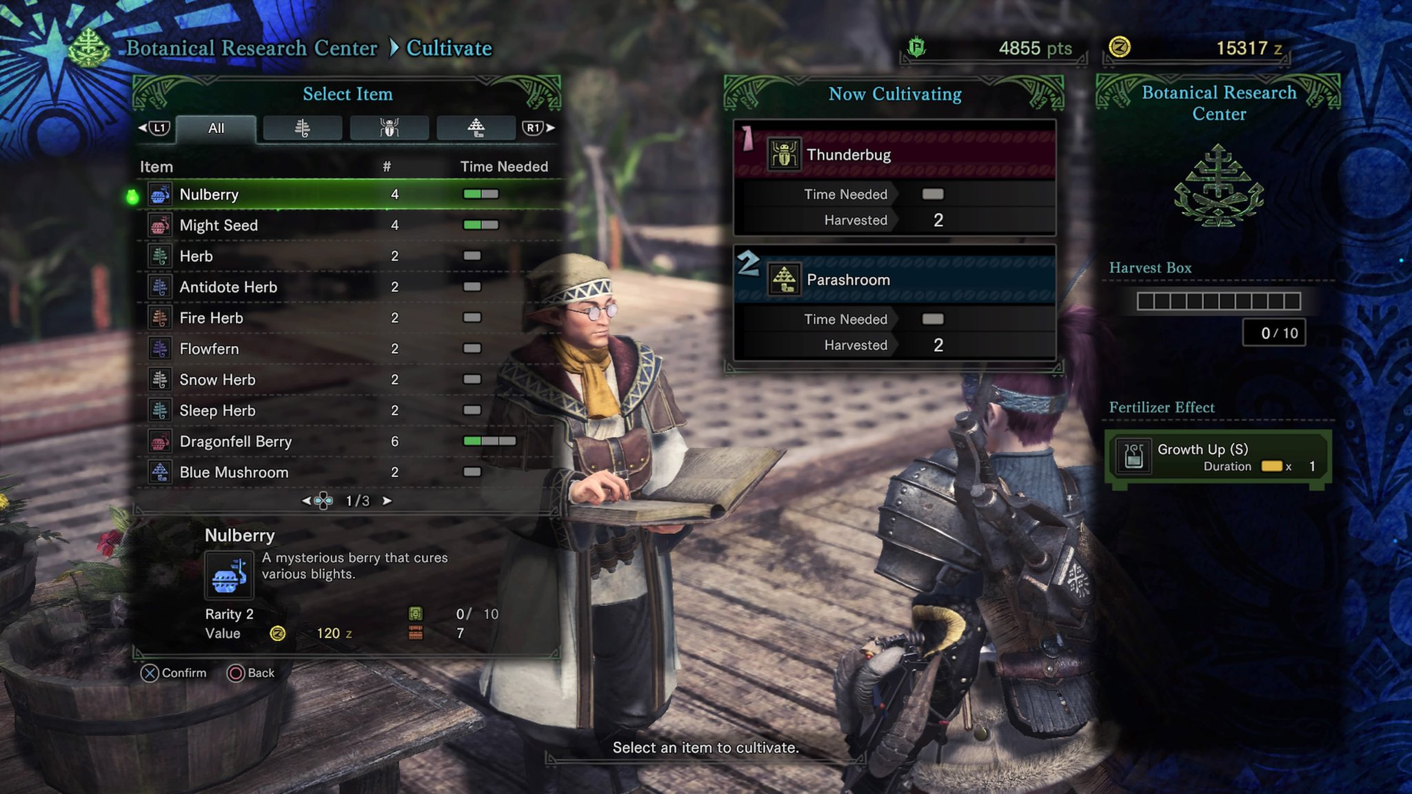 Monster Hunter World Botanical Research Center - How to Use