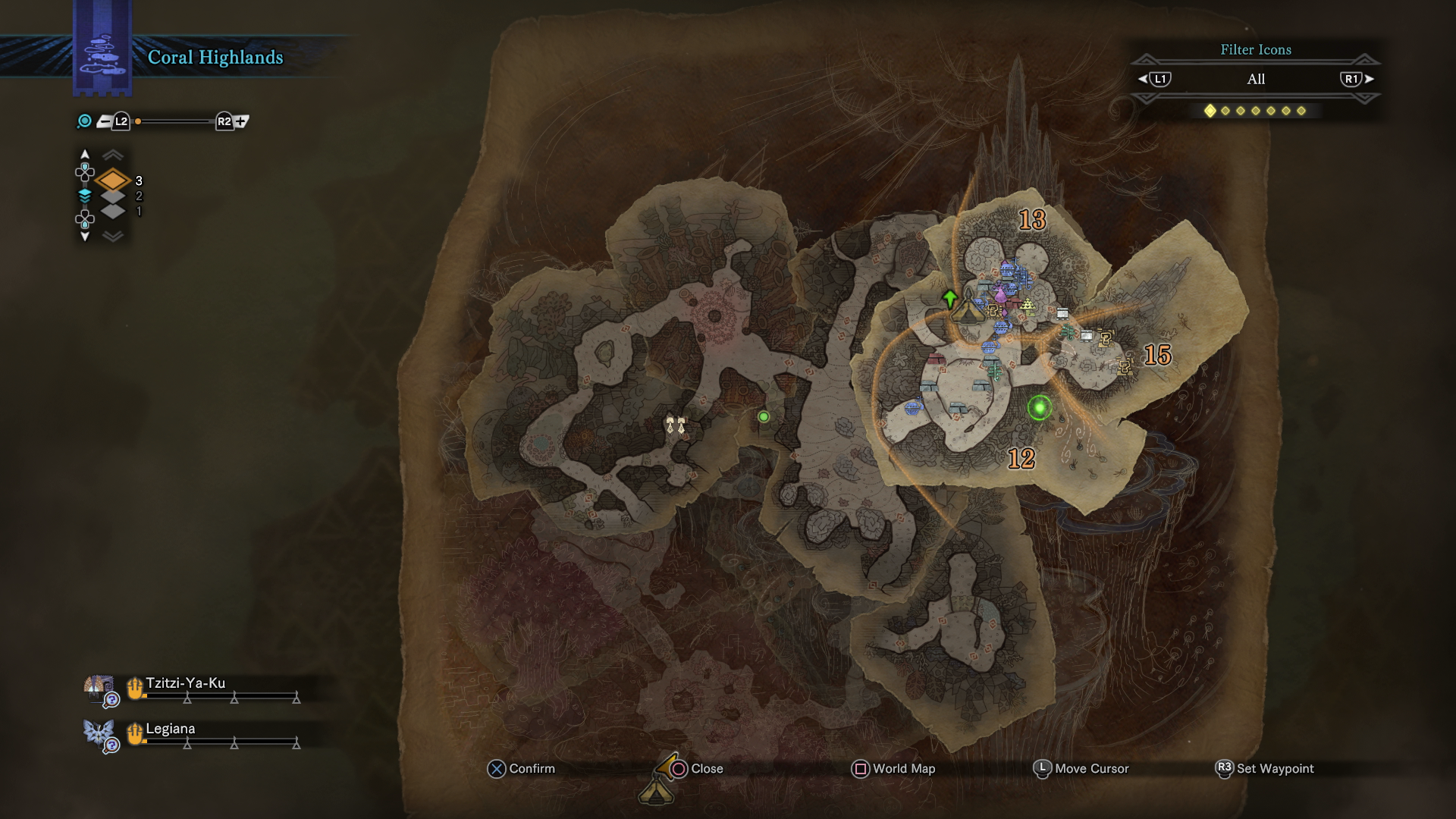 Monster Hunter World Coral Highlands Guide Complete Map