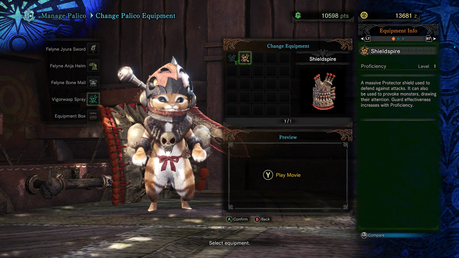 monster hunter world palico guide - palico armor and weapons guide