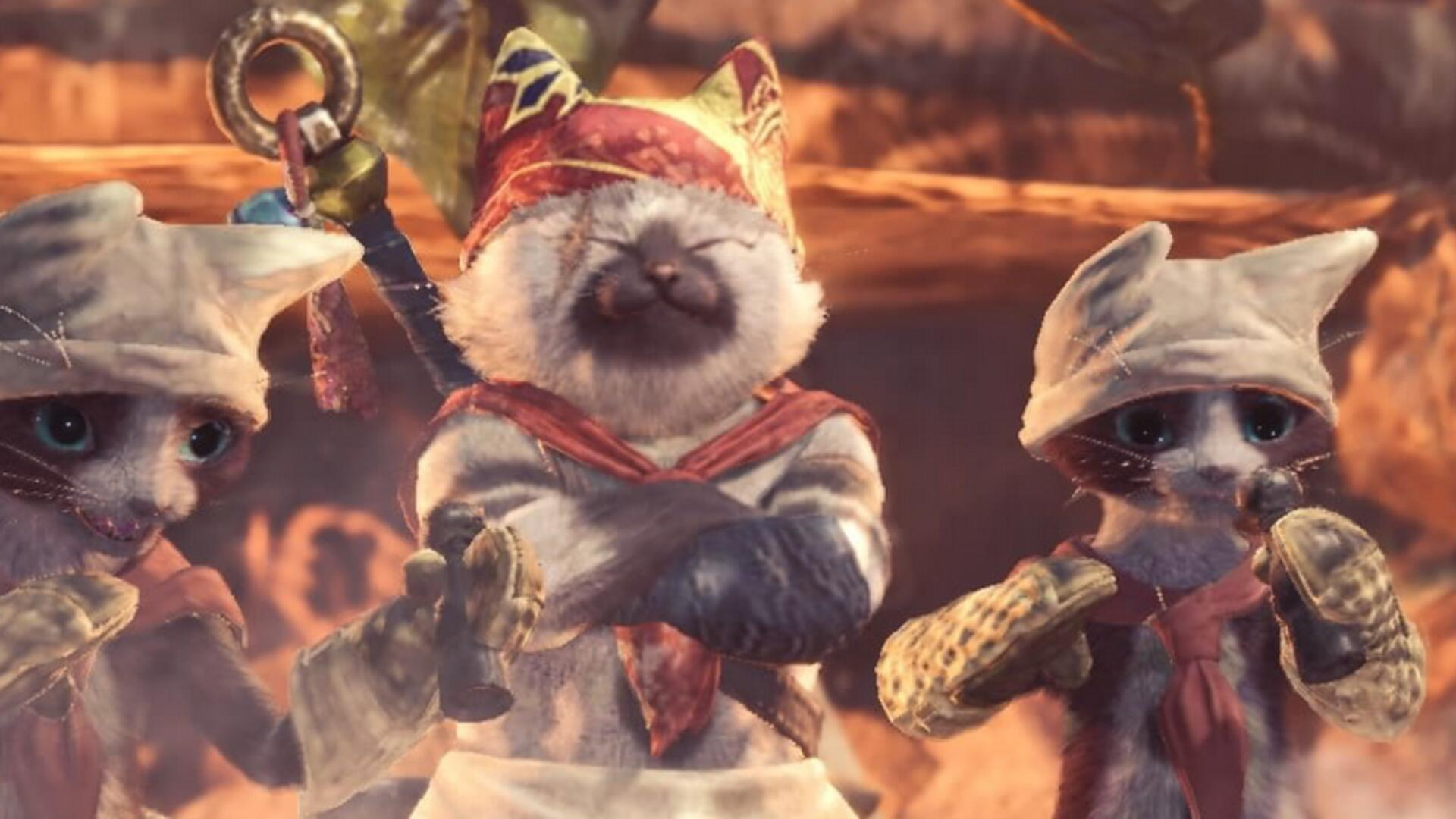 Cat Expert Explains Why Your Kitty is Fascinated by Monster Hunter: World's Palicos