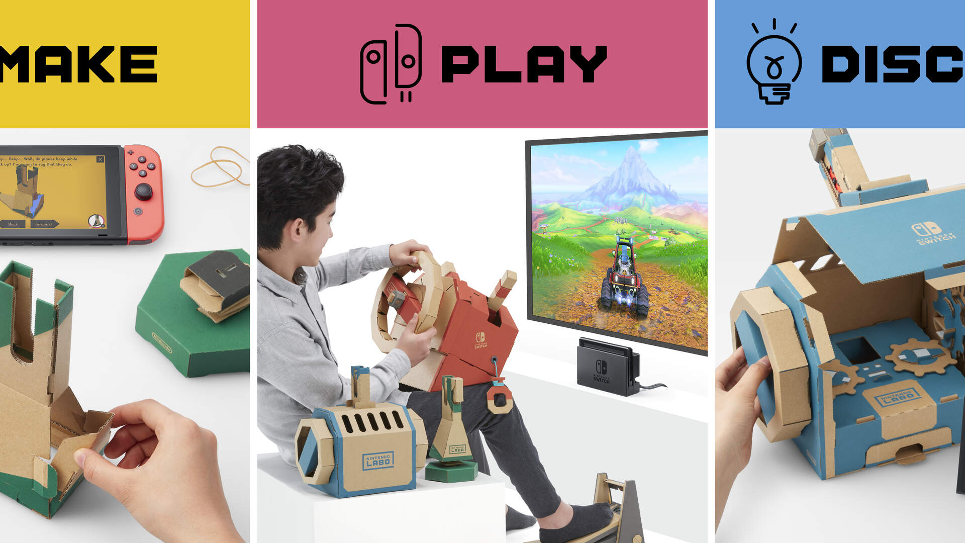 Nintendo Labo Vehicle Kit Announced, New Sets for Cars, Submarines, Planes, and More