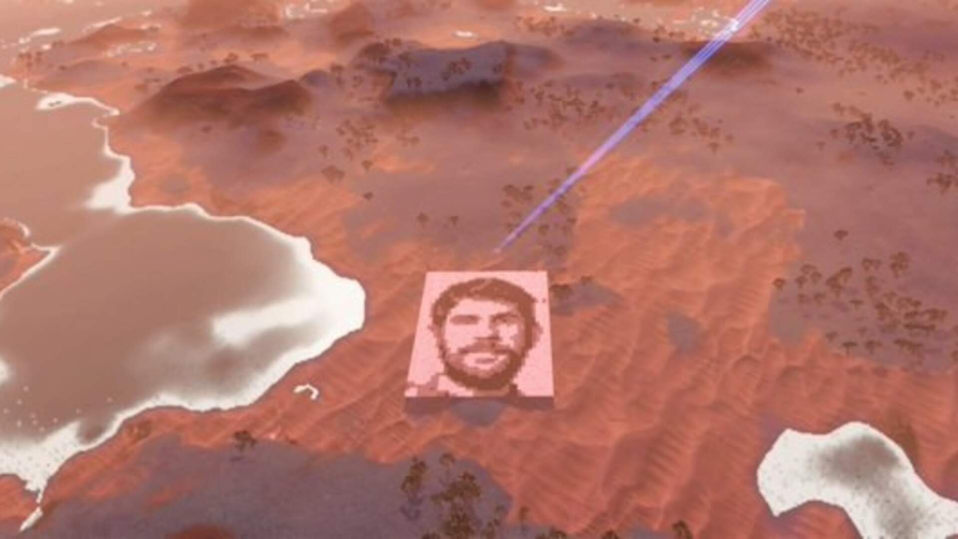 No Man's Sky Player Builds Giant Profile of Game's Creator That's Viewable from Space