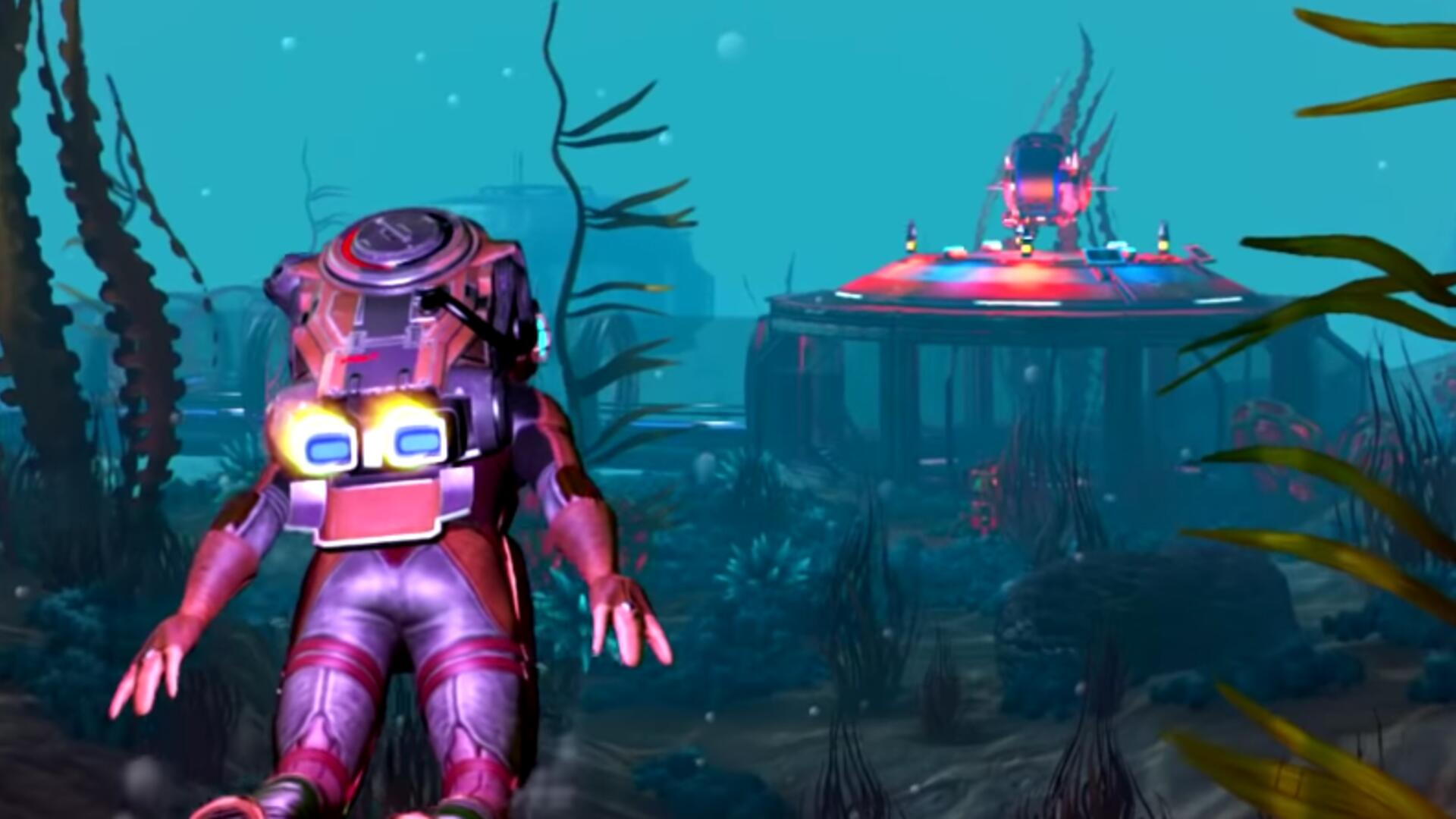 No Man's Sky The Abyss is a Surprisingly Meaty Underwater Update, Adds Sea Monsters, Submarines, and Treasure