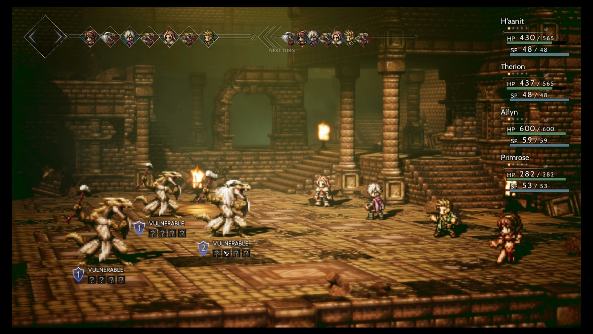 Image result for octopath traveler combat