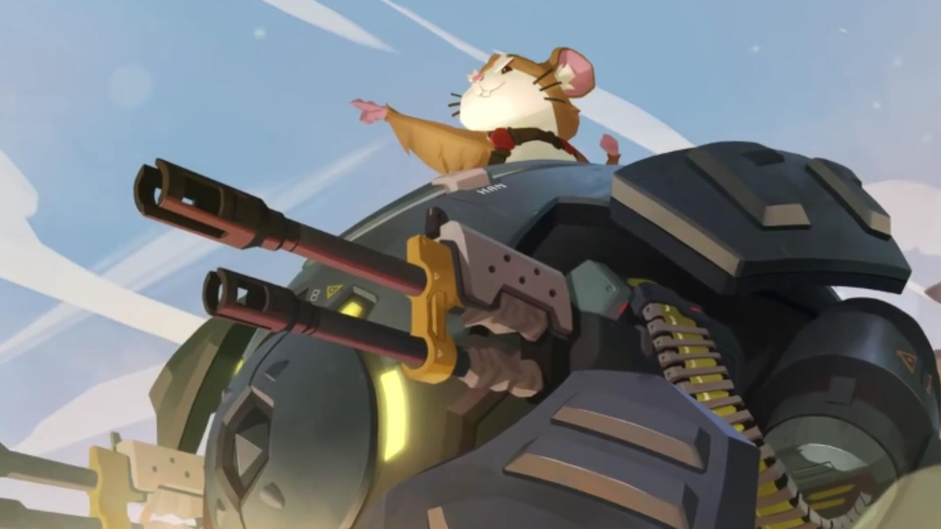 Wrecking Ball, Overwatch's Cute Hamster Mech Pilot, is Live Now in the PTR