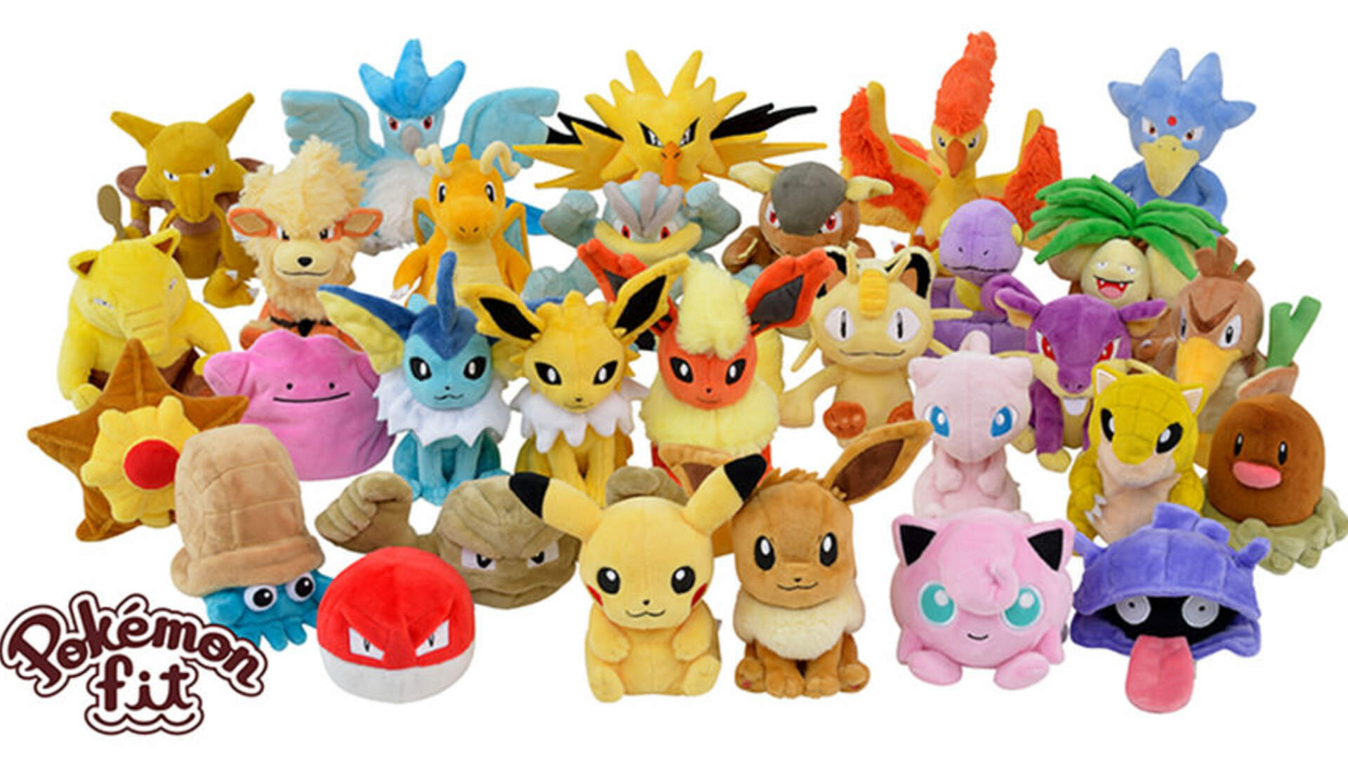 Plushies of all Original 151 Pokemon are Coming This Year