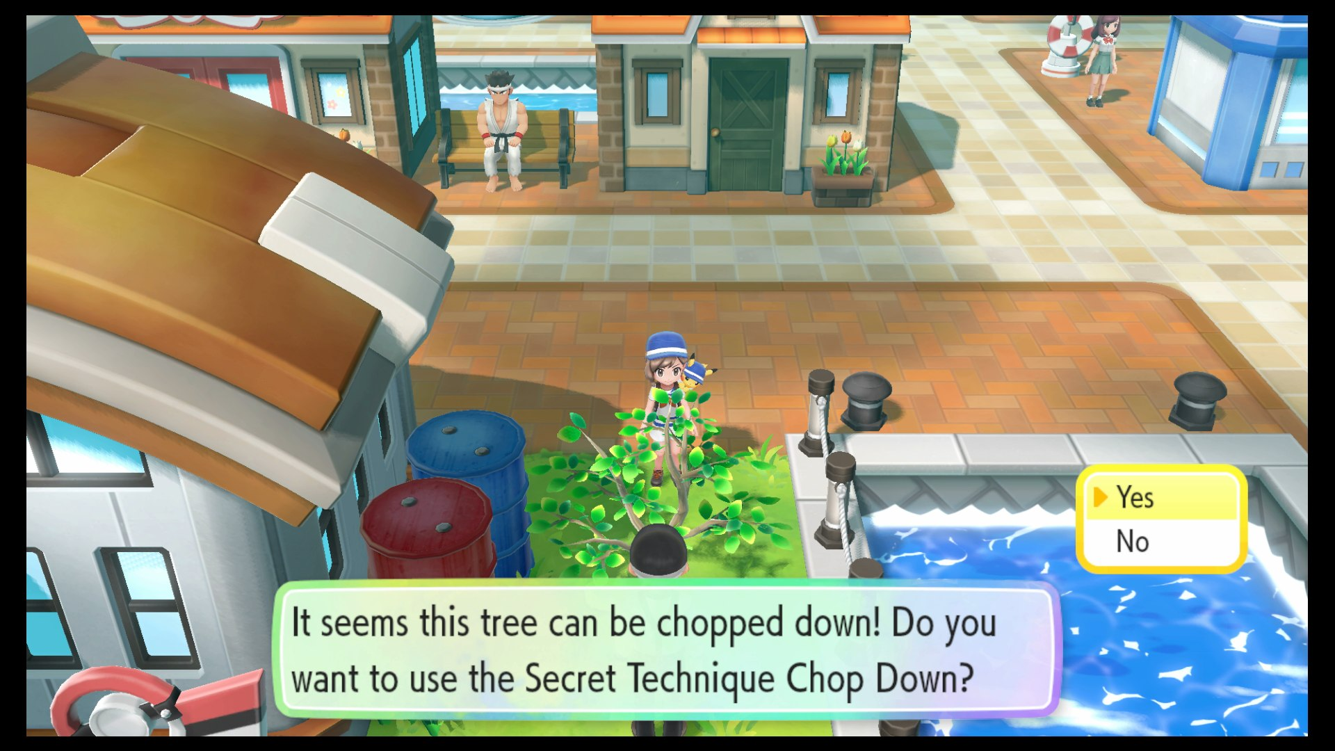 How To Chop Down Trees In Pokemon Let S Go Pikachu And Eevee Usgamer