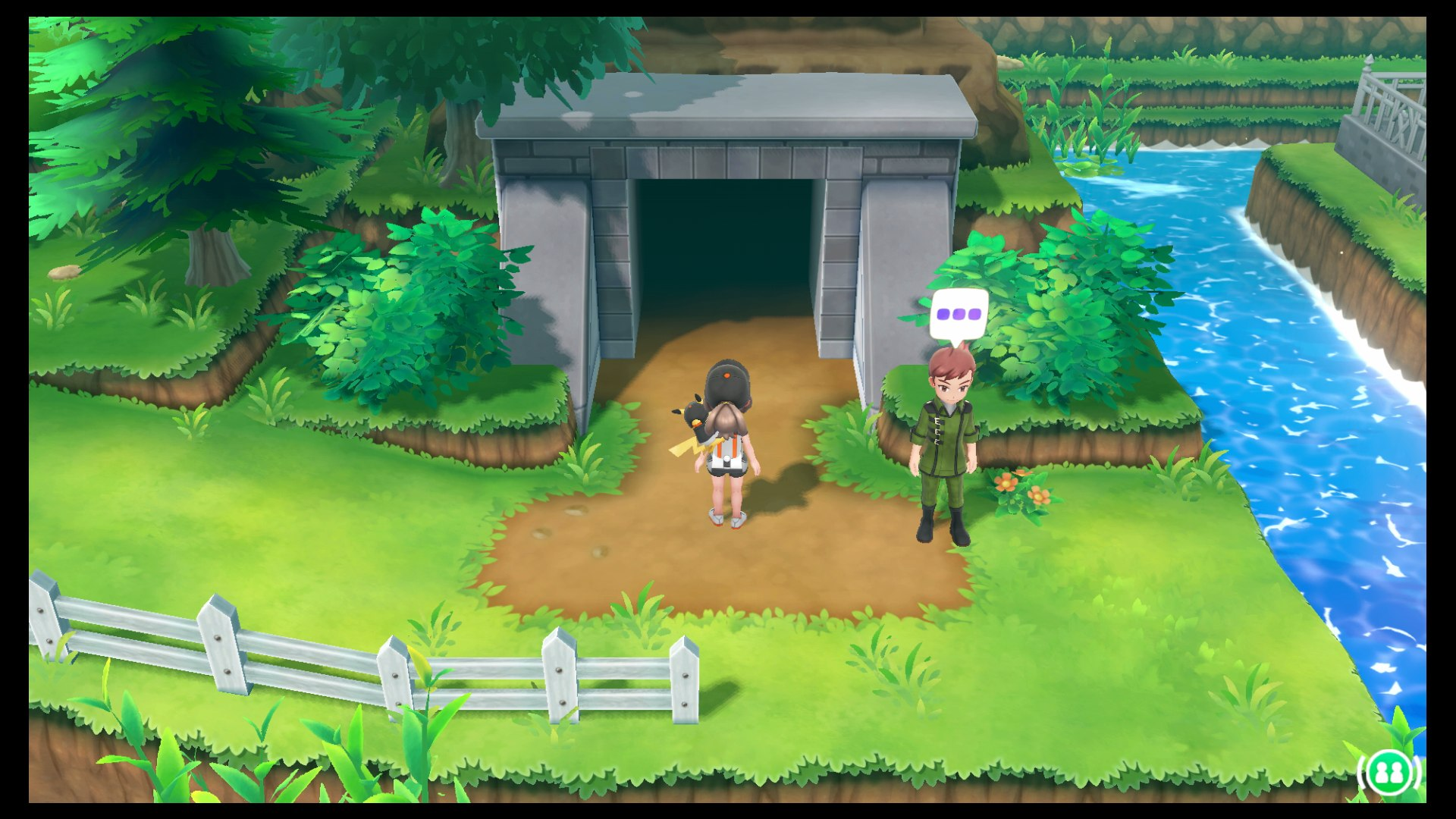 Pokemon has been sighted near cerulian city head straight over to the town but enter the cave slightly to the northwest of the actual city itself