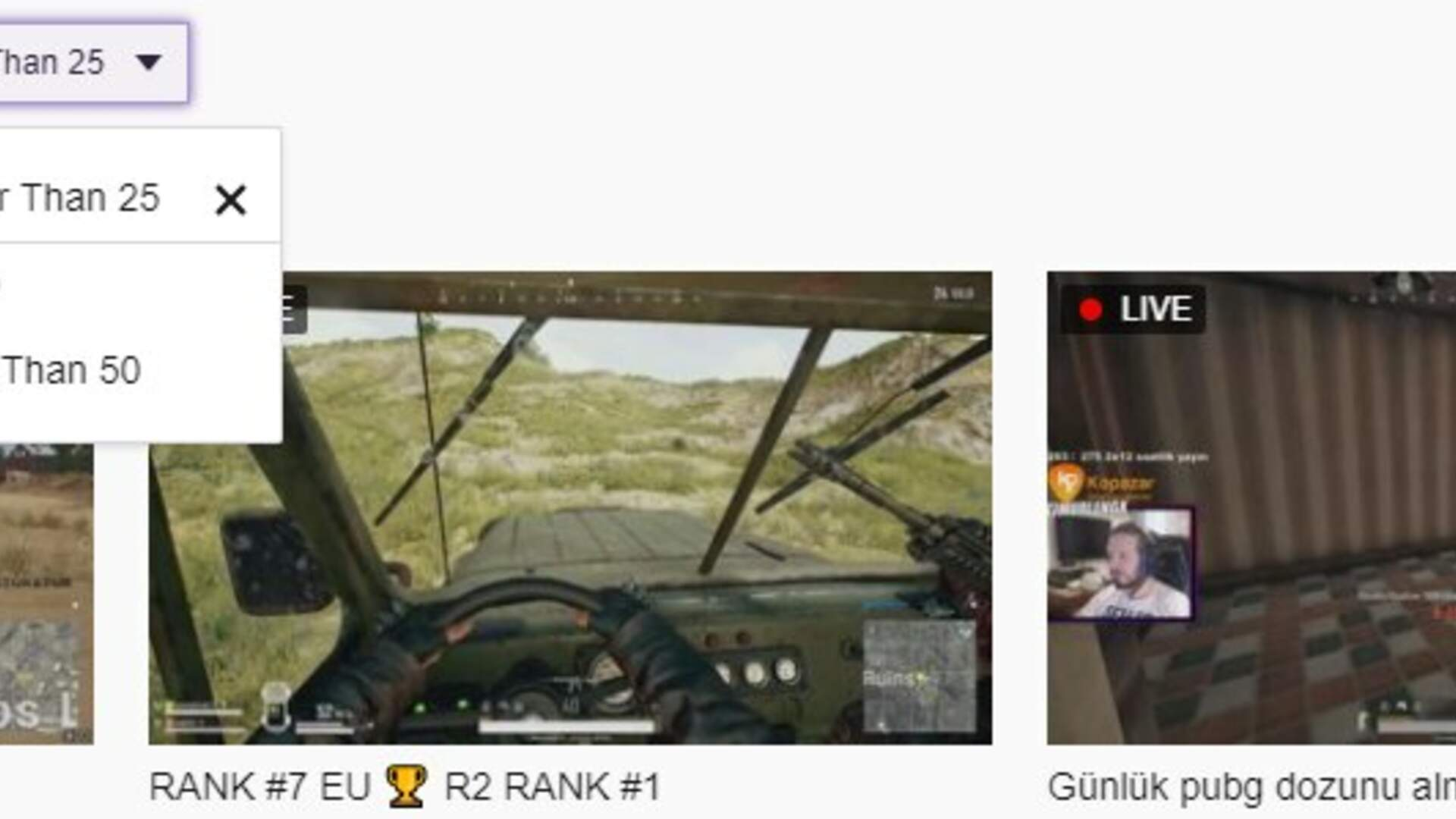 Twitch now Lets you Filter PUBG Streams by Players Remaining