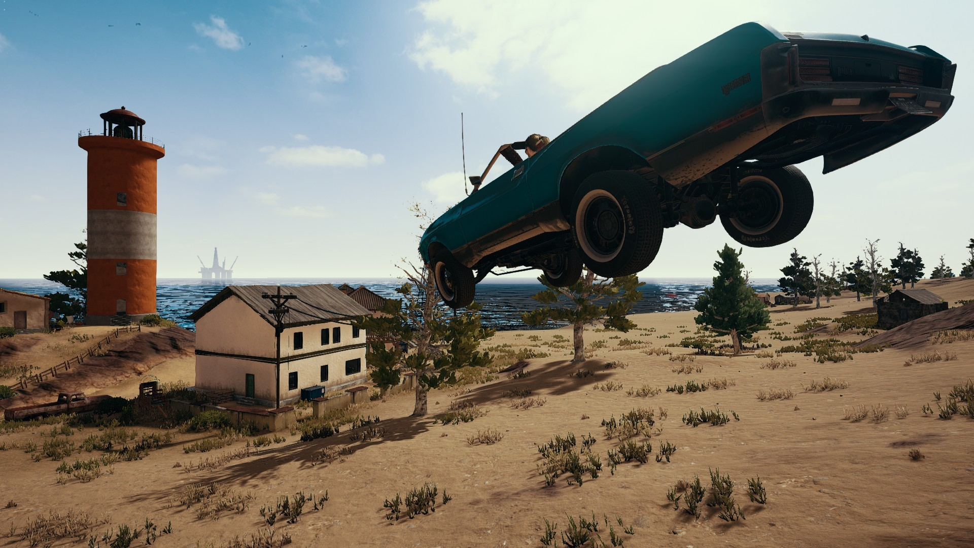 The Glory Of Pubg S New Muscle Car Usgamer