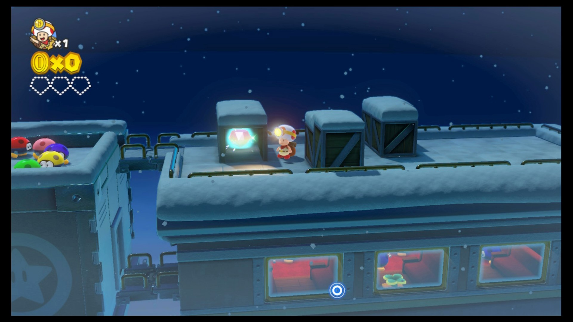 Captain Toad Blizzard on the Star Express Walkthrough - Level 17