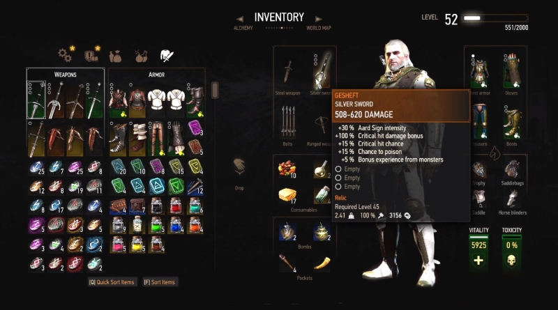 Witcher  Only Need To Craft Once