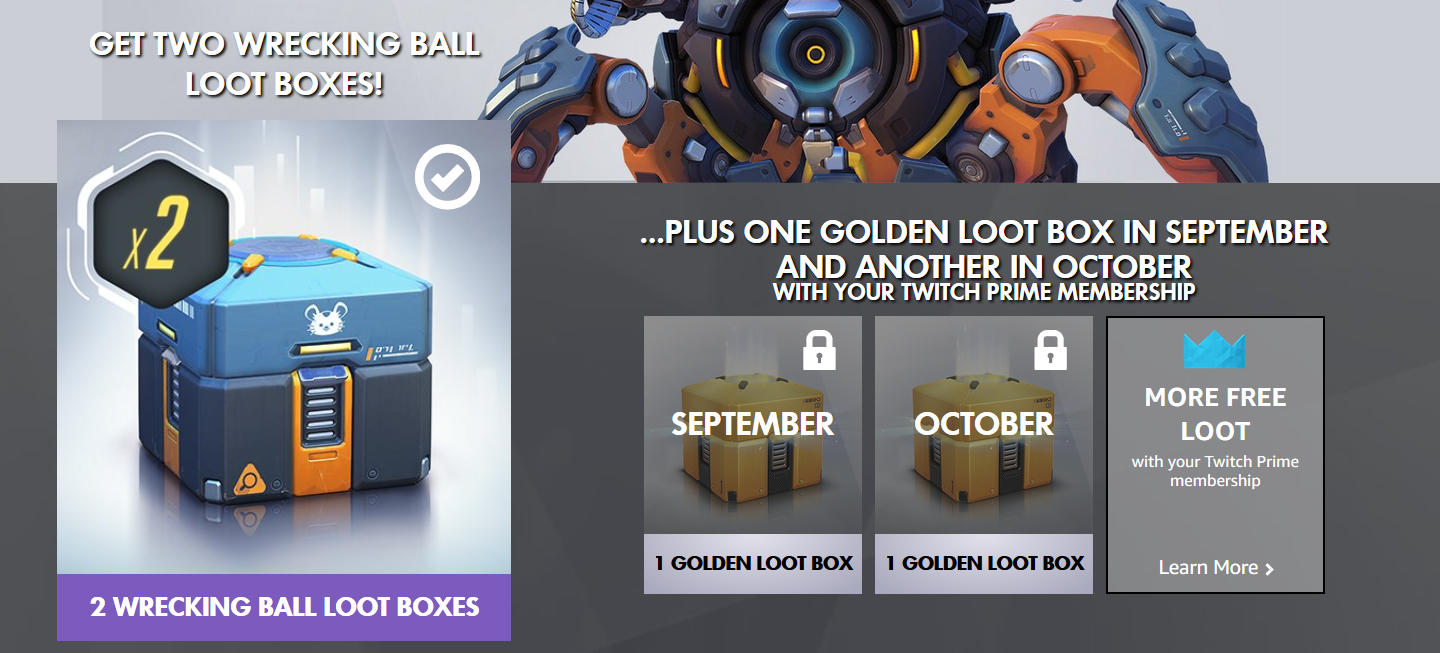 Free Overwatch Loot Boxes Available for Twitch Prime Members: Here's