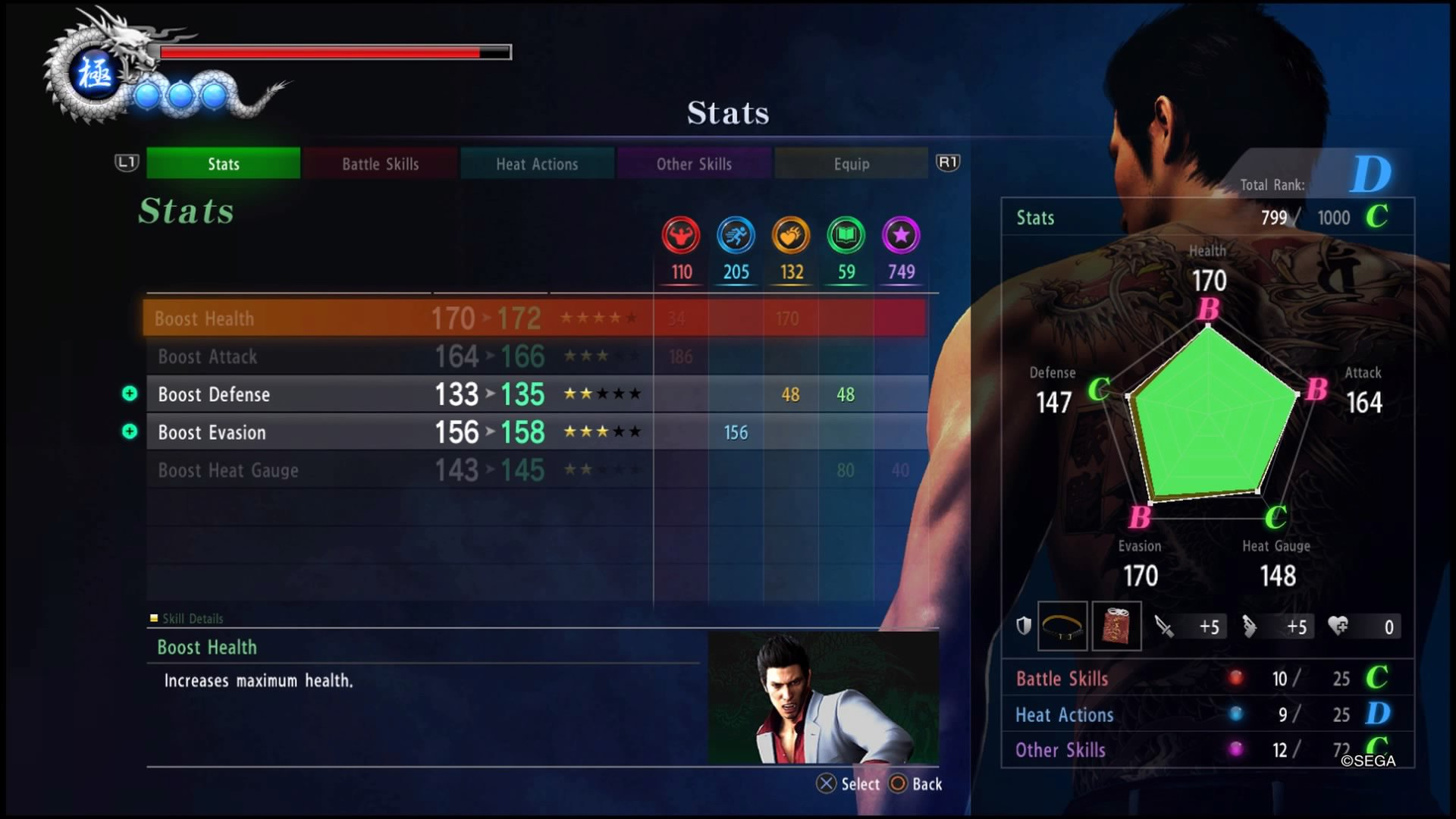 How To Earn EXP, How To Increase Kiryu's Stats, How To Unlock New Combat