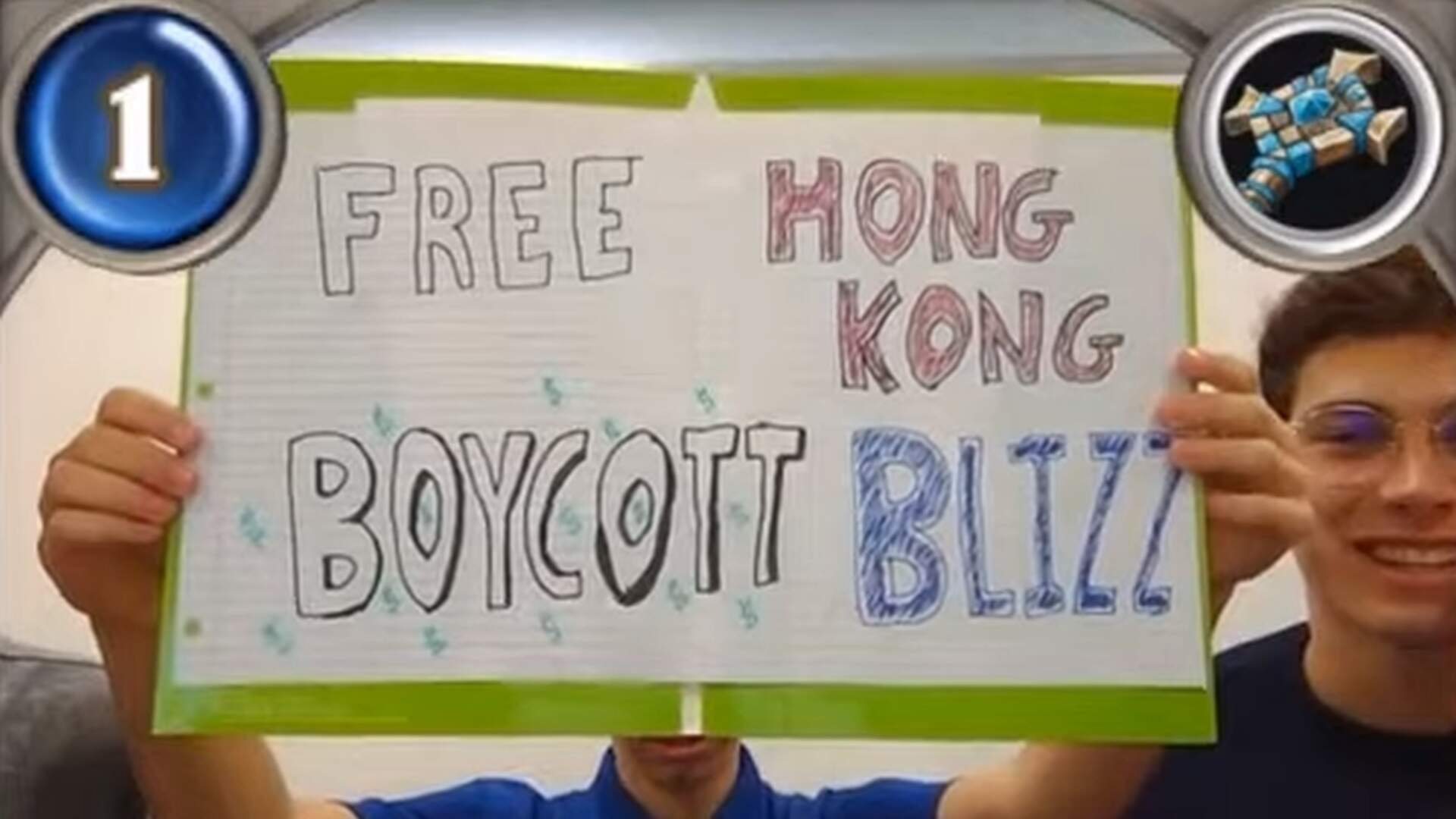 Blizzard Bans Collegiate Hearthstone Players for Six Months Over Protest Sign [Update]