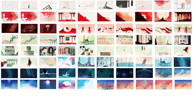 Gris was meticulously planned so that colours would convey the protagonist's emotional journey