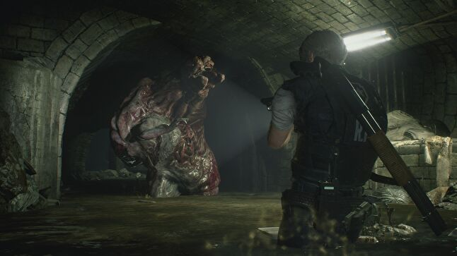 Kanda and his team came up with the themes of 'darkness' and 'wetness' to inspire the visual style of Resident Evil 2's remake
