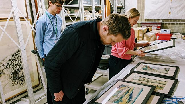 Ceri Williams at the William Morris Gallery Ukiyo-e archives